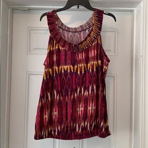 Lane Bryant Multi-Colored Sleeveless Top